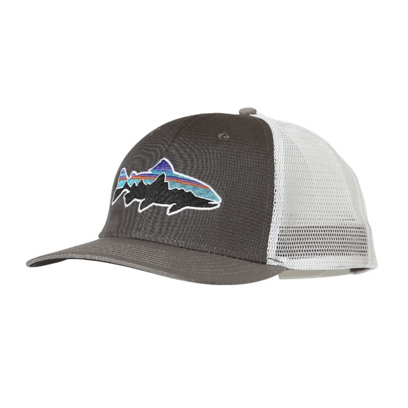 13d9bfd4eb979 Brand New Patagonia Fitz Roy Trout Trucker Hat! M 5b6df1552beb79544d78c4b9